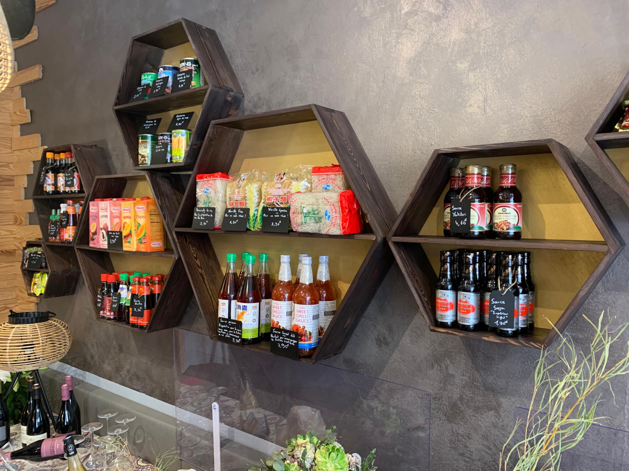casier design épicerie